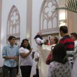 Três crianças receberam o Batismo na Catedral