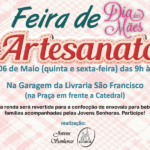"""Jovens Senhoras realizam """"Feira de Artesanato do Dia das Mães"""" nesta quinta (05) e sexta-feira (06)"""