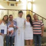 Cinco crianças receberam o Batismo na Catedral