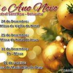 Celebrações de Natal e Ano Novo, na Catedral