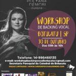 Workshop de backing vocal com Polyana Demori segue com inscrições abertas até o dia 15. Vagas são limitadas