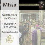 Quarta-feira de Cinzas na Catedral