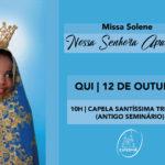 Catedral celebrará Missa de Nossa Senhora Aparecida