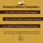 Formação Bíblica terá início na próxima quinta (14)