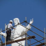 Pintura da imagem do Cristo continua nesta quinta (21)