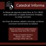 Missas de Segunda a Sexta-feira passam a acontecer na Capela do Antigo Seminário