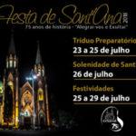 Comunicado: Bolsões de estacionamento Catedral estarão interditados a partir deste sábado,14, para montagem da Festa de Sant'Ana