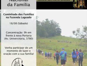 Semana Nacional da Família: Caminhada das Famílias na Fazenda Lageado