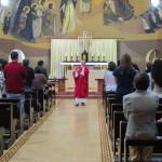 Vigília de Pentecostes reuniu fiéis na Capela Santíssima Trindade