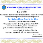 Pe. Nelson tomará posse na Acadêmia Botucatuense de Letras