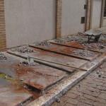 Calçada do Centro de Convivência está sendo reformada