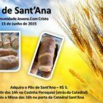 Sábado (13) tem Pão de Sant'Ana