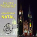 """Catedral recebe o """"Concerto de Natal"""" no próximo domingo (18)"""