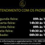 Horário de atendimento de Confissões na Catedral