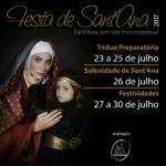 19ª Festa de Sant'Ana será de 23 a 30 de julho