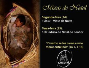 Horário das Missas de Natal na Catedral