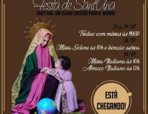 Festa de Sant'Ana 2019 – Sant'Ana: Um olhar Cristão para o mundo.