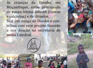 AMIGOS DE DOMBE, VOCÊ PODE SER UM!!!