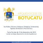 Arquidiocese publicou Carta Circular