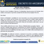 Arquidiocese divulga Decreto com orientações para prevenção da pandemia do novo coronavírus
