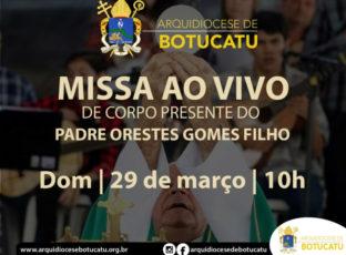 Missa de Corpo Presente do Padre Orestes será transmitida pela Arquidiocese; sepultamento ocorrerá na cripta da Catedral