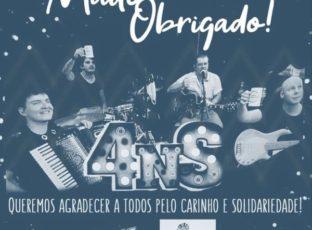 """Live Solidária em prol da Fazenda da Esperança foi realizada em parceria pela Catedral e Banda """"4 no Sertão"""""""
