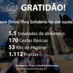 Solidariedade: Catedral arrecada mais de 5,5 toneladas de alimentos, além de fraldas e materiais de limpeza e higiene