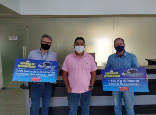 "Corrida Solidária ""Kart dos Artistas"" arrecadou alimentos, máscaras de proteção e álcool gel"