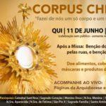"""Paróquias de Botucatu se unem para """"Corpus Christi Solidário"""", com transmissão pela internet"""