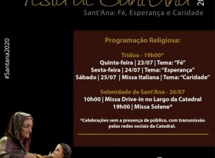 Confira a programação completa da Festa de Sant'Ana 2020