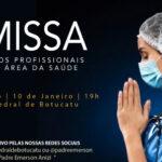 Missa em intenção pelos profissionais da área da saúde será celebrada domingo (10)